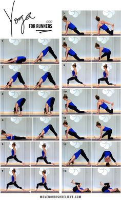 Yoga Poses for Runners // Move Nourish Believe