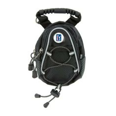"""CMC Golf PGA Tour Mini Day Pack, Black by CMC Golf. Save 26 Off!. $14.70. Hand painted die cast PGA Tour logo medallion. Versatile pack is perfect for toting cell phone, mp3 players, wallet, portable gaming devices, or any other valuables. Extremely versatile pack works for any activity such as golf, hiking, jogging, and trips to the zoo.. Comes with belt loop, rubber handle, carabiner clip, and detachable shoulder strap. Mesh front panel with bungee cord, 4""""x5"""" zipper compartment and..."""