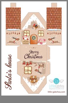 (DIY de Noël) Der Kalender von Avent Astucieux - Places Like Heaven Christmas Paper, Christmas Crafts, Christmas Ornaments, Christmas Activities, Christmas Printables, Christmas Villages, Xmas Decorations, Paper Dolls, Crafts For Kids