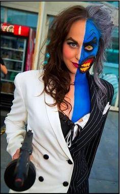 Two Face - Batman Forever - Makeup Tutorial! | Halloweenie ...