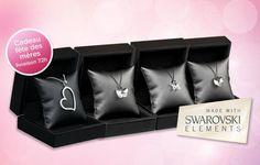 Faites briller la femme de votre vie pour la fête des mères ! Offrez-lui un collier raffiné orné de cristaux SWAROVSKI® ELEMENTS au choix parmi 4 modèle à seulement 22€ au lieu de 75€, soit 71% de remise !