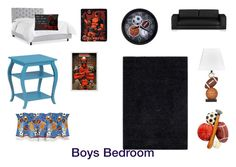 """boys bedroom"" by cwormsley ❤ liked on Polyvore featuring interior, interiors, interior design, home, home decor, interior decorating, Williams-Sonoma, Powell Furniture, Signature Design by Ashley and Safavieh"