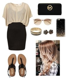 """""""Black and gold !!!"""" by anyseevans ❤ liked on Polyvore featuring beauty, Aéropostale, MICHAEL Michael Kors, Witchery, Chanel and Jennifer Lopez"""