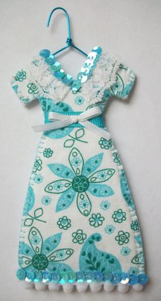 Signs of Spring Miniature Dress #Ornament.  Great for #Christmas, everyday home decor, parties, wedding/bridal showers, gift bags, etc.