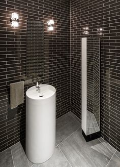clean and slick powder room bathroom design powder room bath designer interior - Bathroom Design Ottawa