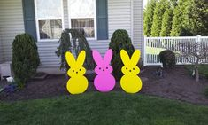 Large Wooden Easter Yard Art Peeps by ComanGraphics on Etsy, $55.00