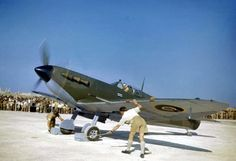 https://flic.kr/p/9tBazv | Spitfire in Malta 15 May 1943. | Air Vice-Marshall Keith Park about to taxi out in his personal Spitfire V  to mark the opening of Malta's new airstrip in Safi.
