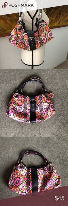LeSportsac Handbag LeSportsac Handbag really cool design used a handful of times in really good condition Lesportsac Bags Mini Bags