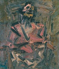 Frank Auerbach - J.Y.M. Seated No. 1 by rodcorp, via Flickr