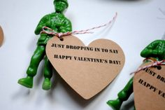 a pretty cool life.: Paratrooper Valentines {with printable tags!} -personal preference, but i hate valentines for kids with romantic themes. Valentines For Boys, My Funny Valentine, Valentines Day Party, Valentine Day Crafts, Valentine Decorations, Happy Valentines Day, Holiday Crafts, Valentine Ideas, Holiday Ideas