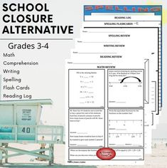 Homeschool Learning Packet 20 NO PREP worksheets, 25 flash cards, and a reading log to keep your child on track during school closures. Reading Resources, Math Resources, Reading Lessons, Guided Reading, Reading Anchor Charts, Classroom Management, Behavior Management, School Closures, Never Stop Learning