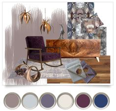Our Dulux Colour of the Year - Heart wood inspired mood board. Featuring prints by Mairi Helena, furniture by Kevin Stamper and sculpture by Victoria Atkinson.  #duluxcolourofthe year #decoratingideas #interiordesign #livingroom #home #decor #interior #interiorstyle #handcrafted