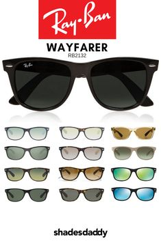 a6e04f68005b Ray-Ban Wayfarer Classic RB2132 Sunglasses available at shadesdaddy.com Ray  Ban Style Sunglasses