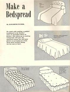 vintage 1953 make a bedspread tutorial