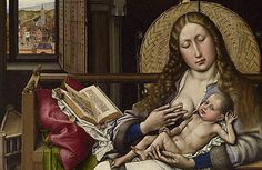 Virgin wicker screen, detail, 1430 Robert Campin