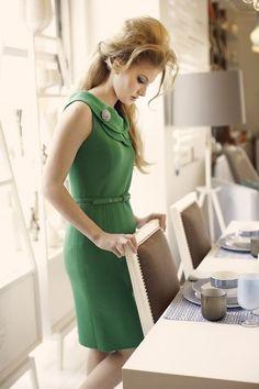 auch edle Outfits passen gut zu grün