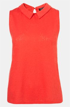 Topshop Collared Lace Tank #Nordstrom #britishstyle