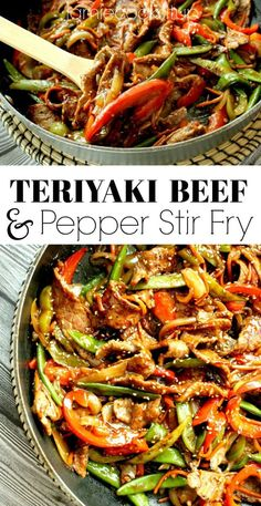 Teriyaki Beef and Pepper Stir Fry Jamie Cooks It Up Family Favorite Food and Recipes Wok Recipes, Stir Fry Recipes, Asian Recipes, Chicken Recipes, Cooking Recipes, Healthy Recipes, Chinese Beef Recipes, Steak Stirfry Recipes, Rice Noodle Recipes