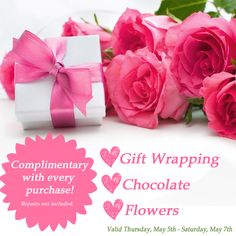 With these complimentary gifts, Tara Fine Jewelry Company just made Mother's Day gift shopping so much easier! #mothersday #mothersdaygifts #shopping #freebies #flowers #chocolate #giftwrapping #fivestarservice #jewelry #swisswatches #atlanta #tarafinejewelrycompany