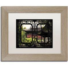Trademark Fine Art Red Pavilion Canvas Art by Philippe Hugonnard, White Matte, Birch Frame, Assorted