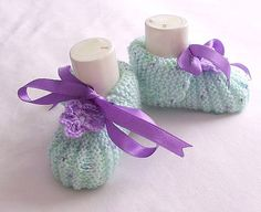 Baby Booties  Baby Shoes Handmade Baby Slippers by modelknitting