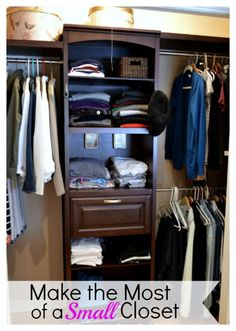 How To Find Hidden Storage In Your Reach In Closet | Maximize Space, Closet  Organization And Organizations