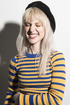 Paramore frontwoman Hayley Williams talks to us about her struggles with acne, her favorite natural skincare products, why she decided to launch hair dye company goodDYEyoung, and how self-expression helps her cope with anxiety and depression. Paramore Hayley Williams, Hayley Williams Haircut, Hayley Williams Blonde, Hayley Paramore, Good Dye Young, Hayley Wiliams, Good Looking Women, Grunge Hair, Woman Crush