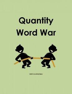 Quantity Word intro activity FREEBIE.  - Pinned by @PediaStaff – Please Visit ht.ly/63sNtfor all our pediatric therapy pins