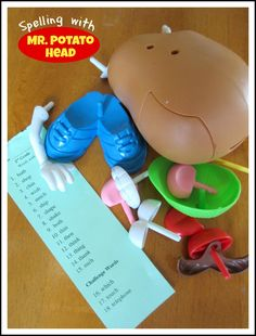 Relentlessly Fun, Deceptively Educational: Spelling with Mr. Potato Head