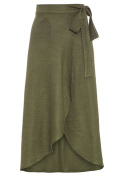 Saia Pareô Moana Mídi - Verde - Oqvestir Casual Xl, Sleeves Designs For Dresses, Kurti Designs Party Wear, Modest Skirts, Curvy Dress, Curvy Girl Fashion, Indian Dresses, Women's Fashion Dresses, Dress Skirt