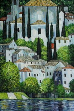 Klimt - Church in Cassone (Landscape with Cypress) Oil Painting