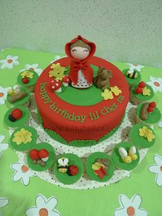 little red riding hood smash cakes | Little Red Riding Hood Cake & cupcake set