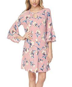 Look at this #zulilyfind! Mauve Floral Shift Dress #zulilyfinds