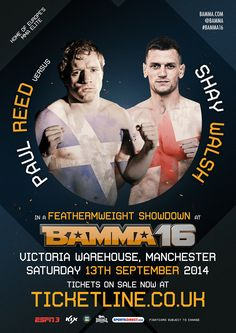 Paul Reed Vs Shay Walsh #BAMMA16 #MMA #MixedMartialArts #UFC #BAMMA