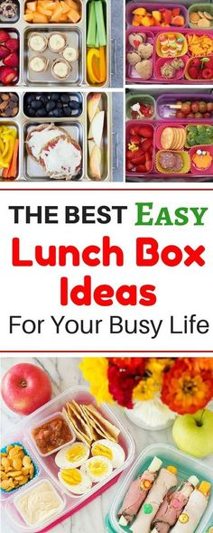 Months worth of healthy make ahead school lunch ideas for kids, for teens, and for adults! These easy no sandwich bento box recipes are perfect for picky eaters. There are so many ideas for cold lunches even including vegetarian and gluten free ideas for Creative School Lunches, Kids Lunch For School, Healthy Lunches For Kids, Kids Meals, Healthy Snacks, Healthy Recipes, Cold Lunch Ideas For Kids, Free Recipes, School Lunch Recipes