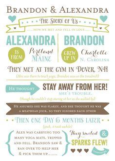 Wedding Invitations - Story of Us