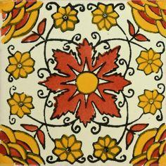 Traditional Mexican Tile - Rosa Del Desierto – Mexican Tile Designs