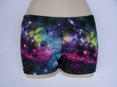 Galaxy spandex shorts... these would be great for volleyball next year!!