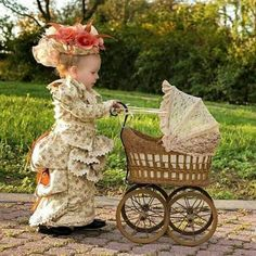 Steampunk Tendencies Both is particular outfit/hat, but I LOVE the idea of Adelaide all gussied up and pushing a pram! How fun! So Cute Baby, Baby Kind, Baby Love, Cute Kids, Cute Babies, Precious Children, Beautiful Children, Beautiful Babies, Little People