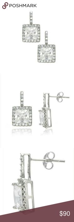 """Cate + Chole Sally """"Princess"""" 2ct Earrings Beautiful earrings by Cate + Chole that are 2ct tw.. Pierce backings.  Non smoking/ pet friendly home Cate + Chole  Jewelry Earrings"""