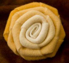 Wool Flower Pin