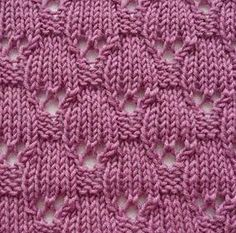 Lace Ovals Knitting Stitch. More Great Patterns Like This
