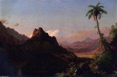 Dans les tropiques, huile sur toile de Frederic Edwin Church (1826-1900, United States)