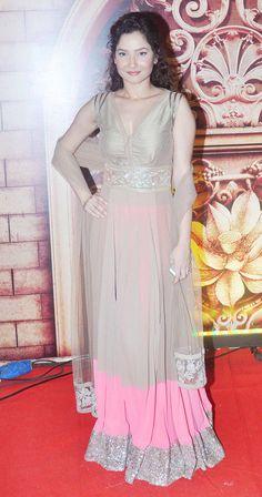 Ankita Lokhande at the Zee Rishtey Awards 2014. #Bollywood #Fashion #Style #Beauty