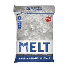 Snow Joe Melt25cc Melt Calcium Chloride Crystals Ice Melter Resealable Bag, 25-Pound, 2015 Amazon Top Rated De-Icers & Salt Spreaders #Lawn&Patio