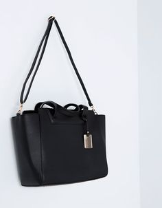"Tote bag with charm - <span style=""color:#F9284A;"">SALE</span> - Bershka Czech Republic"