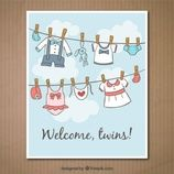 www.freepik.com/free-vector/wellcome-twins-card_883595.htm' Designed by Freepik