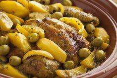 Tajine de poulet olives pommes de terre