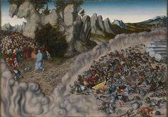 Der Zug durch das Rote Meer von Lucas Cranach d. Ä.