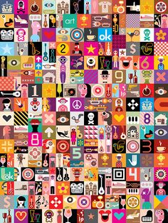 Art Collage of many different images. Vector illustration #design